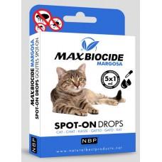 Натурални противопаразитни капки за котки с Маргоза 5 бр х 1мл