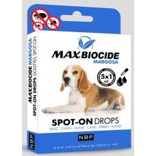 Натурални противопаразитни капки за кучета с Маргоза 5 бр х 1мл