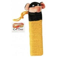 Драскалка за коте от конопено въже - оранжево, 35x9cm, SPECIAL CAT 25022