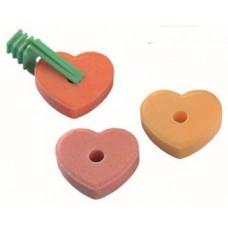 Солено блокче за гризачи - сърце 3 бр - 30 гр NOBBY Германия 25410