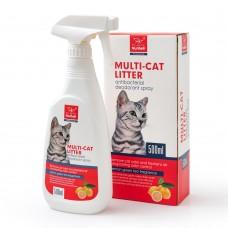 Антибактериален спрей - дезодорант премахва неприятните миризми и освежава въздуха, за котки, 500 мл, NUNBELL - 310166
