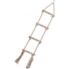 Дървена стълба със сезалено въже, играчка за папагал - 80 x 16,5 cm, NOBBY Германия 31713