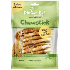 Planet Pet Chewstick with chicken wrapping - деликатесно лакомство 13 см. / 45 броя / 400 грама