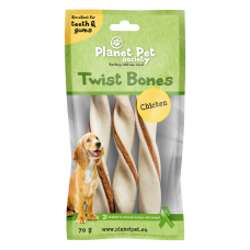 Planet Pet Chicken twist bone - дентално лакомство с пилешко месо 11,5 см, 60 грама - 5 броя
