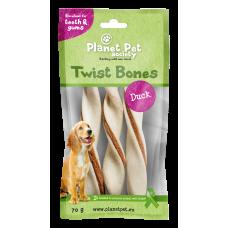 Planet Pet Duck twist bone - дентално лакомство с патешко месо 11,5 см, 60 грама - 5 броя