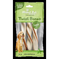 Planet Pet Lamb twist bone - дентално лакомство с агнешко месо 11,5 см, 60 грама - 5 броя