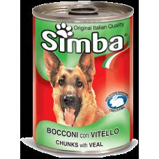 SIMBA – консерва с Телешко месо, Пълноценна храна за израснали кучета от всички породи, Италия - 1230 гр
