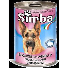 SIMBA – консерва с Агнешко месо, Пълноценна храна за израснали кучета от всички породи, Италия - 1230 гр