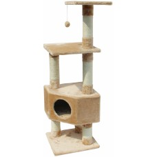 Катерушка за котка LOONAA 40 х 40 х 135 см, Бежово - EBI Белгия - 431-413234
