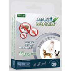 Натурална противопаразитна каишка за куче с гераниол - 38 см