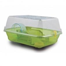 M.P.Bergamo Alvin Large - клетка с пълно оборудване за хамстери и мини хамстери 57x40x25 см - зелена
