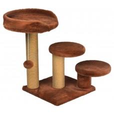 Драскалка за котка, три стълба, три площадки и топче 65 х 65 х 60 см, КАНЕЛА - DUBEX Турция 51507/TVR40-4