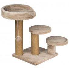 Драскалка за котка, три стълба, три площадки и топче 65 х 65 х 60 см, БЕЖОВО - DUBEX Турция 51508/TVR40-4