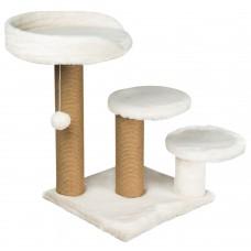 Драскалка за котка, три стълба, три площадки и топче 65 х 65 х 60 см, БЯЛА - DUBEX Турция 51509/TVR40-4