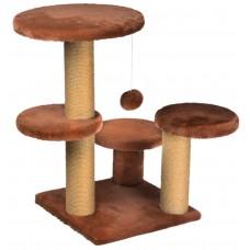 Драскалка за котка, три стълба, четри площадки и топче 62 х 62 х 71 см, КАНЕЛА - DUBEX Турция 51512/TVR40-5