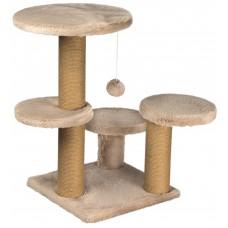 Драскалка за котка, три стълба, четри площадки и топче 62 х 62 х 71 см, БЕЖОВО - DUBEX Турция 51513/TVR40-5