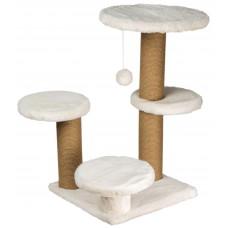 Драскалка за котка, три стълба, четри площадки и топче 62 х 62 х 71 см, БЯЛО - DUBEX Турция 51514/TVR40-5