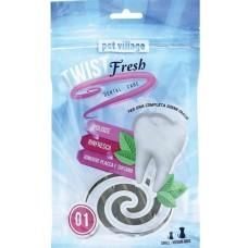 Twist Fresh Dental Twist - Дентално лакомство Спирали, за малки и средни породи кучета - 100 гр - Италия 52.1.1