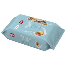 Мокри кърпи за кучета, котки и гризачи с аромат на праскова NOBBY, с екстракт от витамин Е и AloeVera, 15 броя в опаковка, Германия - 57180
