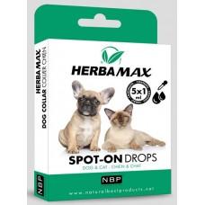 Натурални противопаразитни капки за котки и кучета - 5 бр х 1 мл