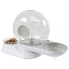 M-Pets SNAIL COMBI Food & Water Dispenser - Охлюв - комбинирана хранилка и поилка, вместимост вода: 2800 мл и Храна: 240 гр, 28 х 24 х 25 см Белгия - 60500699
