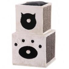 Катерушка и драскалка за котки KISATO бежав 40 x 40 х 70 см NOBBY Германия