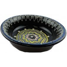 Керамичен съд за храна и вода, уникат с торянска шарка - 18 х 5 см - Орешак България 6357