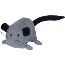Играчка за котка плюшена мишка с привличаща сива 6,5 см NOBBY Германия 66859