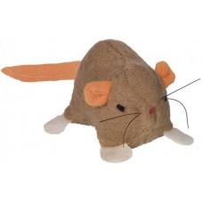 Играчка за котка плюшена мишка с привличаща кафява 6,5 см NOBBY Германия 66860