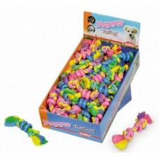 Играчка памучно въже с гумени кръгове PUPPY NOBBY Германия 67173 16 см / 30 гр