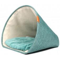 EBI Cuddly cave scott Blue - легло фуния, синьо, с възглавница, 43x43x35cm, Белгия - 673-445198