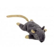 Играчка за котка плюшена мишка с привличаща билка сива 14,5 см NOBBY Германия 67565