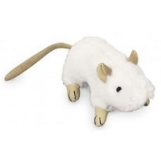 Играчка за котка плюшени животни с котешка трева и звук - мишка бяла 10 см NOBBY Германия 67566