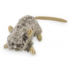 Играчка за котка плюшени животни с котешка трева и звук - мишка сива 10 см NOBBY Германия 67567