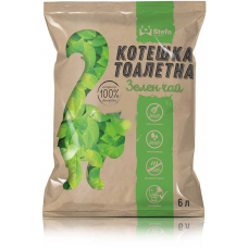 Stefo Green Tea - екологична котешка тоалетна от соя 6 литра - аромат зелен чай 68969