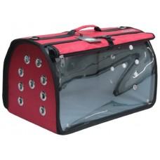 DUBEX BIG FLY - Чанта за домашни любимци, 48 x 28 x 32 см - червена, Турция - 71343