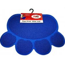 Petex print litter mat blue color - Подложка за почистване на лапи за котешка тоалетна