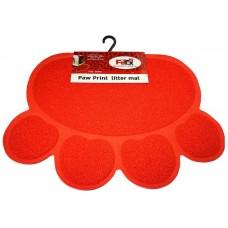 Petex print litter mat red color - Подложка за почистване на лапи за котешка тоалетна