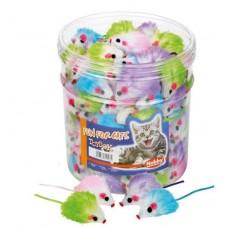 Играчка за котка плюшена мишка цветна 5 см NOBBY Германия 71903