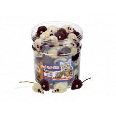 Играчка за котка плюшена мишка кафяво - бежова 5 см NOBBY Германия 71910