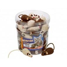 Играчка за котка сезалена мишка кафяво - бежова 7 см NOBBY Германия 71911