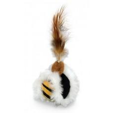 Играчка за котка Плюшена топка с перце с привличаща билка 5 см NOBBY Германия 71958