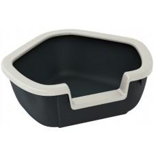 Ferplast Dama - открита ъглова котешка тоалетна с борд 57,5 х 51,5 х 22 cm