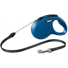 Автоматичен повод FLEXI NEW Classic M синьо въже 5 м. / 20 кг.