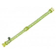 Нашийник за котка със звънче Heart - зелено, ширина 10 мм обиколка - 20-30 см NOBBY Германия 78066-35