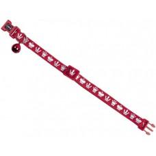 """Нашийник за котка """"Royale"""" със звънче - червен, ширина 10 мм обиколка - 20-30 см NOBBY Германия 78077-01"""