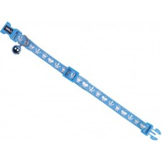 """Нашийник за котка """"Royale"""" със звънче - син, ширина 10 мм обиколка - 20-30 см NOBBY Германия 78077-06"""