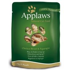Applaws Chicken with Asparagus in Broth - пауч Пиле с аспержи в бульон 70 гр