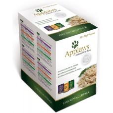 Applaws Chicken in Broth Multipack - Комбинирани паучове Пиле в бульон 12х70 гр