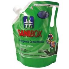 SANIBOX - почиставащ препарат за къщички, котешки тоалетни и подове - АЛОЕ, 1000 мл - Италия, 81001